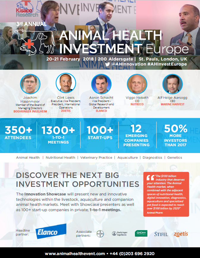 Animal Health Investment Europe, 2018 agenda